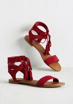 1d6ca9ffd2f Sand Tassel Competition Sandal. With these ruby red sandals starring in  your ensemble