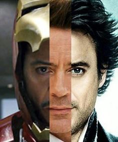 Downey roles (L to R): Iron Man, himself, Sherlock Holmes