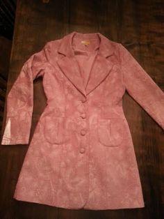 Vintage Coat - Vintage Jacket - BoHo Coat - Boho Jacket - Pink Coat - Pink Jacket - Valentines Gift - Gift For Her - Small Coat by MyHailiesHaven on Etsy