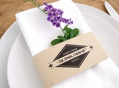 Free rustic napkin band printables by Stelloberry Designs