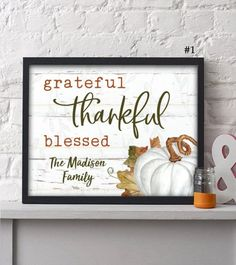 2 Personalized Happy Harvest Collection