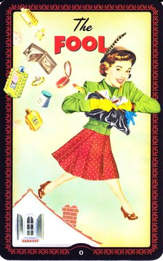 Housewive's tarot - The Fool. major arcana. tarot cards. divination. fortune telling. oracle.