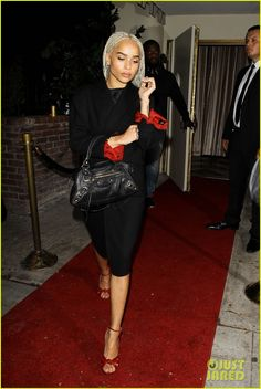 Zoe Kravitz Debuts Blonde Hair at Drake's Birthday Party