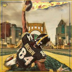 "172 Likes, 6 Comments - Steel City Legends® (@steelcitylegends) on Instagram: ""What do you think of my latest design?  By @raphixgraphix  #antoniobrown #steelers #steelersnation…"""