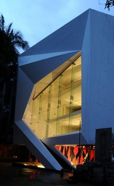 Cadence Architects designed commercial building in Bangalore, India, with a sculptural façade.