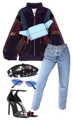 """Untitled #280"" by be-marta ❤ liked on Polyvore featuring Koché, Yves Saint Laurent, Marc by Marc Jacobs and Jean-Paul Gaultier"