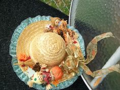 Custom holiday hats made just for you. My mom makes them, contact me for all the details.