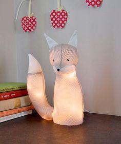 DIY fox lamp (or any stuffed animal not made of fur :-)