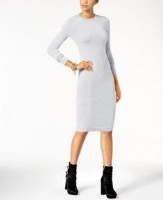 ee0b4c73b432c Michael Kors Petite Metallic Sweater Dress   Reviews - Dresses - Petites -  Macy s