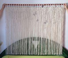 Rideau en macramé macramé art textile en par mislanascreativas