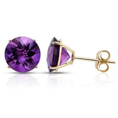 Amethyst Yellow Gold Earrings            by Ice
