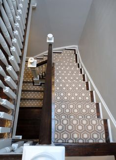 fun carpet on stairs