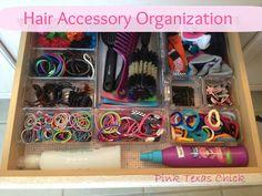 Pink Texas Chick: Organizing da Hair Accessories