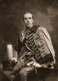 King Alfonso XIII, nephew of Archduke Karl Stefan, in Hussar uniform. 1900s