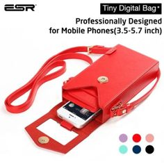 iPhone 6 Case, ESR? Tiny Digtal Bag with Removabal Shoulder Strap [Square] [Crossbody Satchel Hand Bag] [Vintage] Box Purse With Shoulder,Phone Purse Phone Wallet Case for Samsung Galaxy Note 4, Apple iPhone 6 Plus, Phone Under 5.7 Inches (Red)