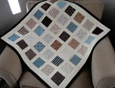 love the colors...tutorial is here http://captivatingquilter.com/articles/candy-box-baby-quilt-pattern---a-charm-pack-creation.html