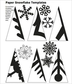 snowflake template to cut out