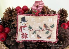 Frosty Night  Stitching Dreams: Christmas ornaments
