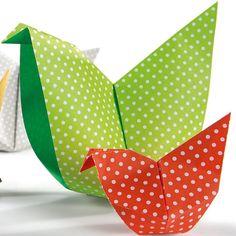 Faire des poules en origami pour #Paques avec Wesco Family