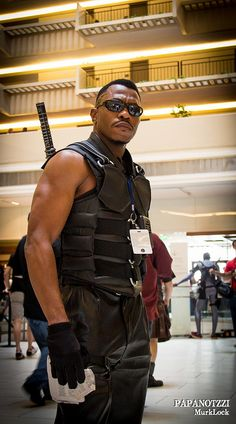 Best Blade ever! Maybe he was cosplaying as Wesley Snipes - Dragon*con 2012