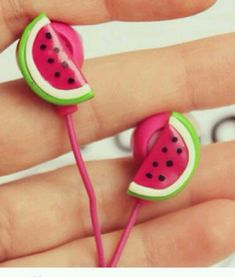 Cute #watermelon head phones