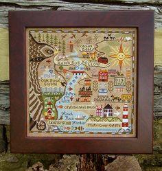 Carriage House Samplings » Map of Hawk Run Hollow
