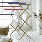 As if taken directly from a Scandinavian cottage – a drying rack made of untreated wood that only gets more beautiful over time. Ikea Laundry, Pantry Laundry Room, Laundry Hamper, Laundry Rooms, Potpourri, Hygge, Fee Du Logis, Grand Menage, Scandinavian Cottage