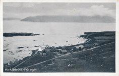 F r erne F royer Kirkjub ur harbour Saint Olavs Church ca 12 centuary Post Card, Saints, Auction, Mountains, World, Beach, Water, Travel, Outdoor