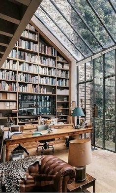 Home Library Design, Dream Home Design, My Dream Home, Home Interior Design, House Design, Home Libraries, House Goals, Cozy House, Home Deco