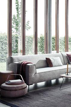 New Living Room, Living Room Designs, Love Seat, Modern Design, New Homes, Lounge, Contemporary, Interior Design, Furniture