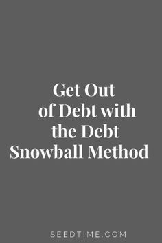 Creating a debt snowball is my preferred method of getting out of debt.  The strength of using this method is that it focuses on the behavioral side of personal finance rather than the mathematical.