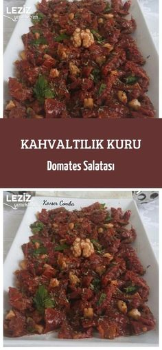 Breakfast Tomato Salad - My Delicious Food - Dry Tomato Salad for Breakfast - Tomato Breakfast, Breakfast Salad, Breakfast Items, Dried Tomatoes, Food Porn, Brunch, Food And Drink, Nutrition, Yummy Food