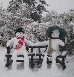 Snowman and woman! This is so cute!