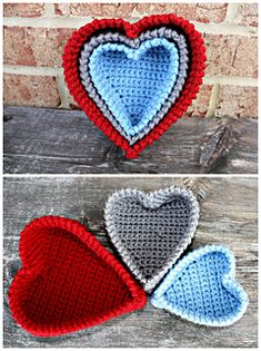 These Heart Nesting Baskets are so cute and they can be displayed all year long. They can be made in any home decor color scheme for added fun.
