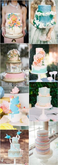 Pastel Whimsical Wedding Cakes