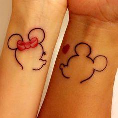 relationship tattoos Photo of Studio 54 Tattoo - Lutz, FL, United States. Matching Mickey and Minnie for us Disney Couple Mickey Tattoo, Mickey And Minnie Tattoos, Disney Couple Tattoos, Couple Tattoos Love, Disney Tattoos, Mini Tattoos, Cute Tattoos, Unique Tattoos, Couples Tattoo Designs