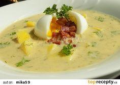 Cuketová polévka s vejcem a slaninou recept - TopRecepty.cz