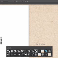 Painting in Photoshop on Art Surfaces - Smart paper texture templates that add paper shading and lighting 'live' as you paint on them Photoshop Video, Photoshop Brushes, Photoshop Design, Photoshop Elements, Photoshop Tutorial, Photoshop Actions, Photoshop For Photographers, Photoshop Photography, Shops