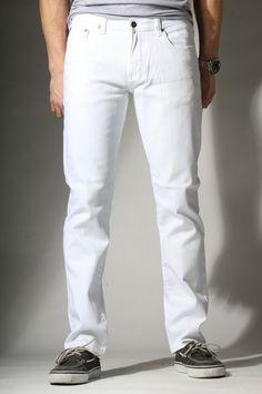 {OG 2013} Powder White Skinny Slim Jeans