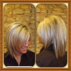 Saw these pics and I think this will be a great style for anyone not willing to go for the dramatic short stacked bob.