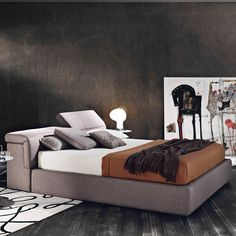 Modern Double Bed  - Fabric Star 600
