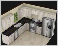 13 l Shaped Kitchen Layout Options For A Great Home – Love Home Designs This L shaped kitchen layout is definitely stylish with white cabinets and black speckled countertops. It provides a classic layout that's very functional and easy to use. Kitchen Lighting Design, Kitchen Lighting Fixtures, Modern Kitchen Design, Interior Design Kitchen, Kitchen Decor, Kitchen Ideas, Diy Kitchen, Ranch Kitchen, Eclectic Kitchen
