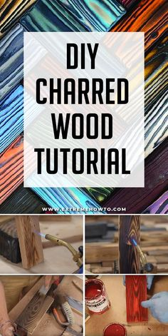 Charred Wood for Home Decor - Extreme How To - The process involves charring the wood surface with exposed flame from a propane torch, then coolin - Awesome Woodworking Ideas, Easy Woodworking Projects, Diy Wood Projects, Woodworking Plans, Woodworking Jigsaw, Diy Wood Crafts, Fun Projects, Decorative Wood Pieces, Wood Burning Techniques