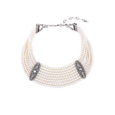 >> Click to Buy << Classic & Fashion Multi Layer Necklace Geometric Crystal White Simulated Pearls Chunky Necklace Fashion Jewelry #Affiliate