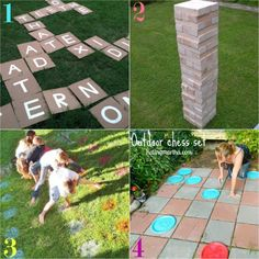 5 DIY Summer Family Activities To Try Before School Starts Outdoor Games, Outdoor Play, Outdoor Living, Family Games, Family Activities, Diy For Kids, Crafts For Kids, Yard Games, Party Entertainment