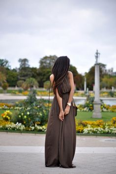 Long brown dress - perfect for summer!