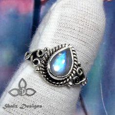Rainbow Moonstone Ring Rainbow Ring Moonstone Ring 925