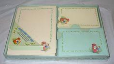 NEW Vintage Stationery Gift Set Animals Bunny HedgeHog Decorated Paper Envelopes