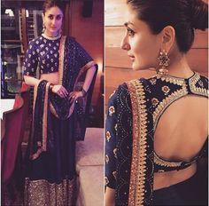 #Kareena Kapoor in #Sabhyasachi #Designer #boatneck Blouse & #Lehnga @http://www.maalpani.com/buy-online-lehenga-choli.html