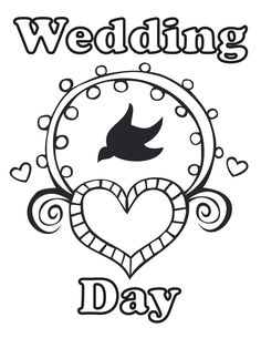 Free Printable Coloring Book Wedding